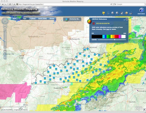 Kentucky Weather Mapping Site