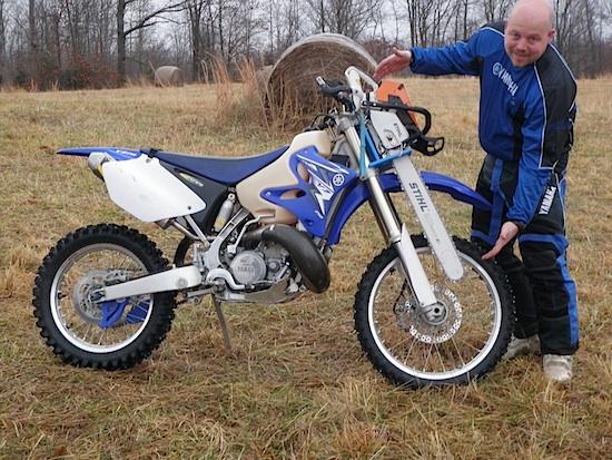 Big Stihl on the Yamaha