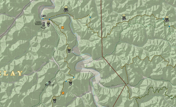 A Portion of my Red Bird Crest Trail Map