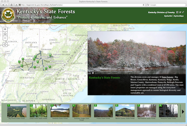 Ky State Forests Story Map