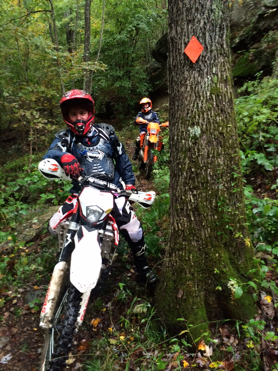 Tom (GasGas) & Tim (KTM) Riding Red Bird in the Rain