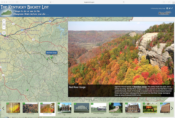 Kentucky Bucket List Story Map