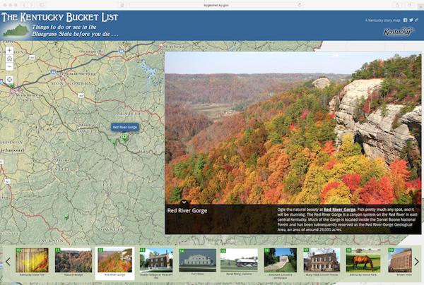 Kentucky Bucket List Story Map