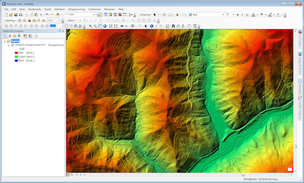 KyRaster Layer in ArcMap