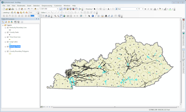 KyVector Layers in ArcMap