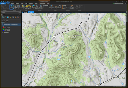 KyTopo Image Service in ArcGIS Pro