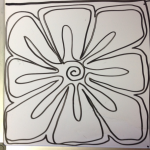 The Square Flower practice drawing