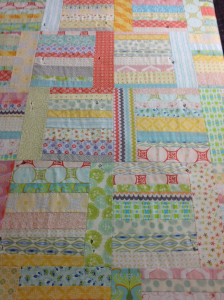 Sunday Morning Quilt top close up